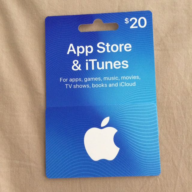 $20 iTunes App Store gift card