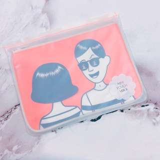 🚚 韓國Ooh La La萬用包 收納包 鉛筆包 手拿包