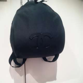 Chanel vip black backpack