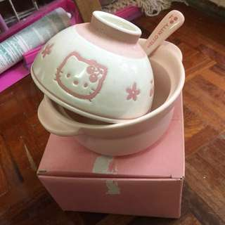絕版 Vintage Sanrio Hello Kitty bowl set with spoon
