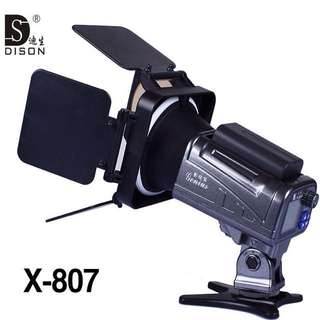 DISON GENIUS X-807 200W LED STROBE FLASH DUOLIGHT 42GN 5500K