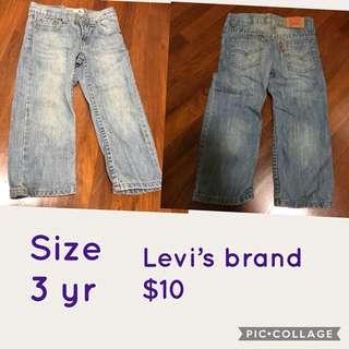 Prelove Levi's Jeans size 3 yr
