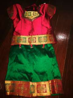 Kids girls Indian dress skirt and blouse