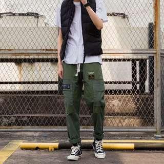 【 Chu.Cheng 】日系拼接多口袋直筒工裝長褲 拼色 余文樂 軍事風 非wtaps CARHARTT