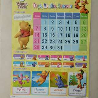 Time table chart n month chart winning pooh