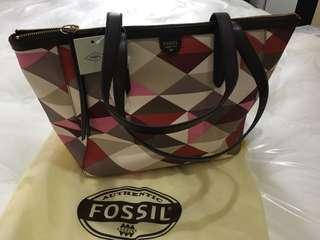 Fossil Shopper Tote Multi Red