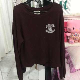 Sweater crop pull&bear
