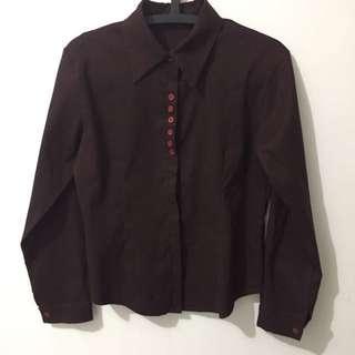Brown Shirt Top