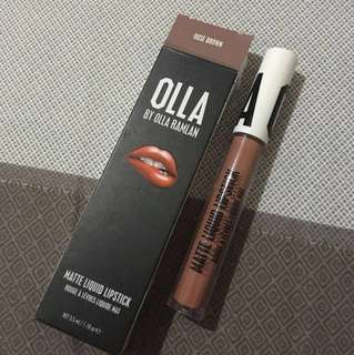 OLLA by Olla Ramlan Matte Liquid Lipstick Rose Brown