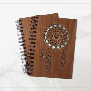Laser Cut Wood Notebook