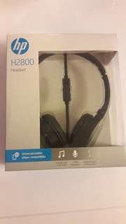 全新HP 2800 頭帶式耳筒 可聽電話及歌,電腦合用 有咪及音量調整