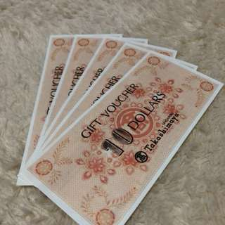 Takashimaya $50 Gift Vouchers