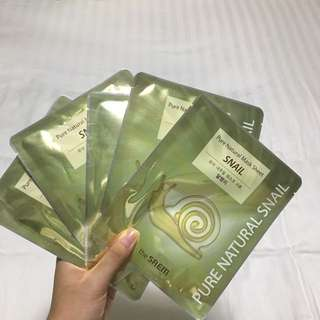 KOREA Snail Face Masks