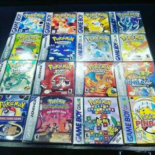 WTB ALL POKEMON GAMES FROM ALL GEN