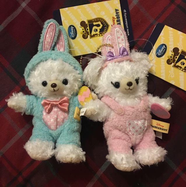 迪士尼大學熊偉伯帕菲復活節兔子變裝吊飾