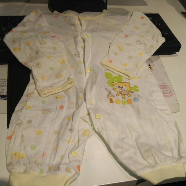 近新嬰兒蝴蝶衣連身衣三件組