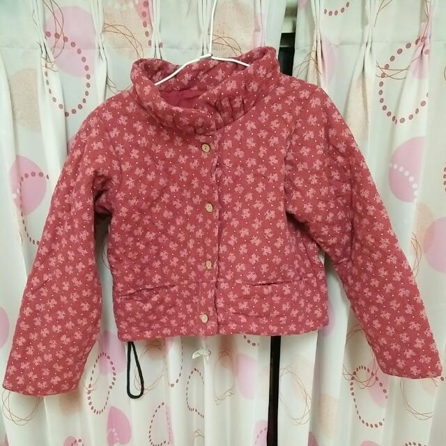 森林系棉襖紅外套,超可愛短板