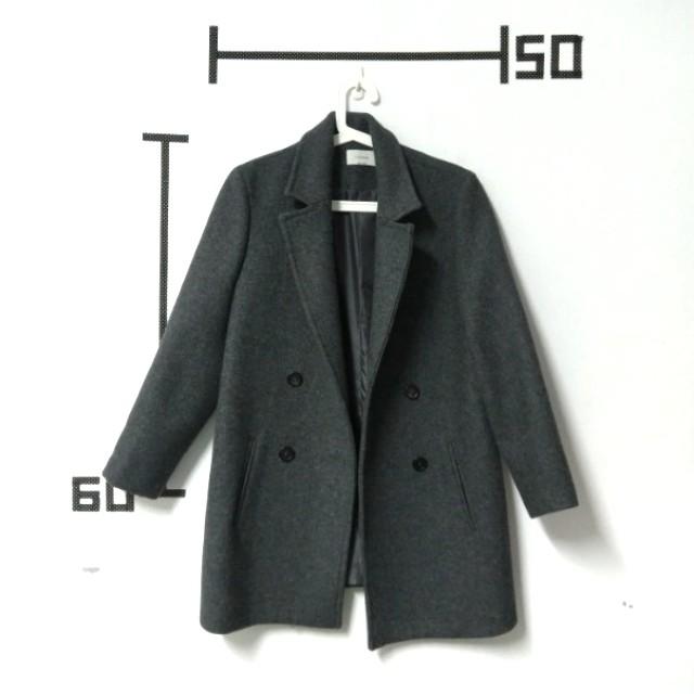 瑞比特 80%羊毛超挺版排釦外套大衣