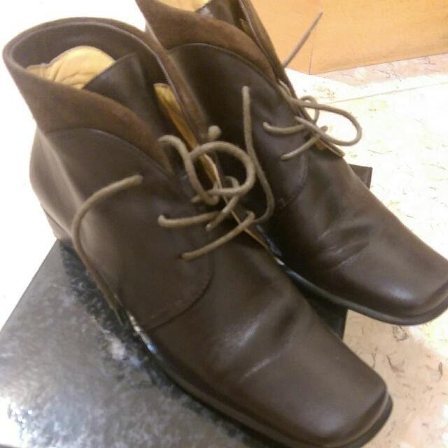 短靴 (咖啡色 )
