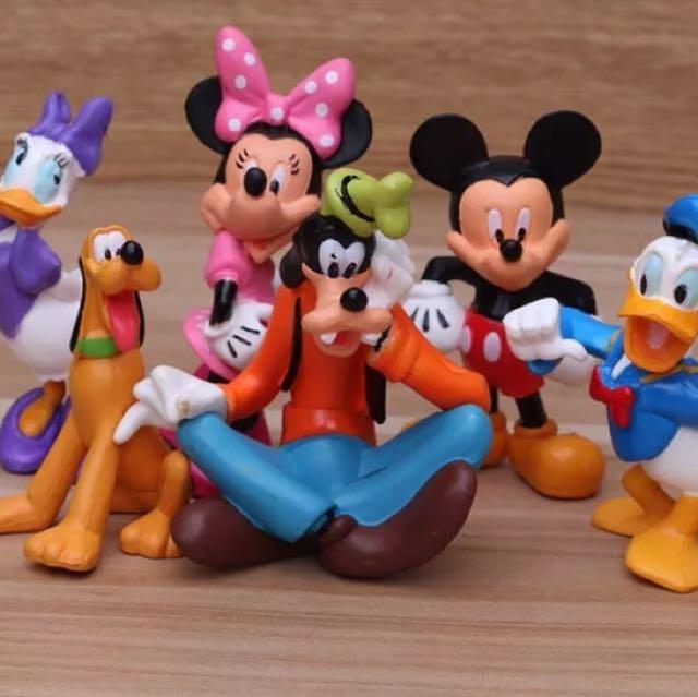 迪士尼 米奇 米妮 黛西 唐老鴨 高飛 布魯多 蛋糕 多肉 公仔 擺件 擺飾 玩具 造型 可愛 療癒