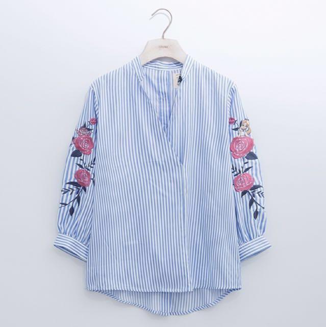 全新 lovfee愛麗絲繡花襯衫上衣