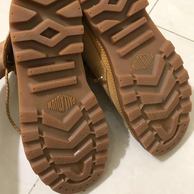 雨鞋 palladium 短靴 軍靴 短筒 褐色