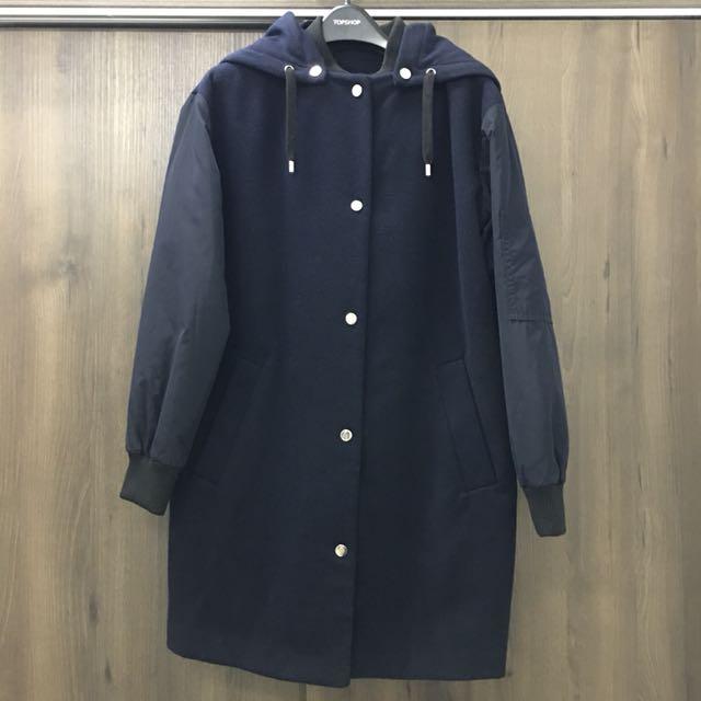 💯 TOPSHOP Hybrid Bomber Coat