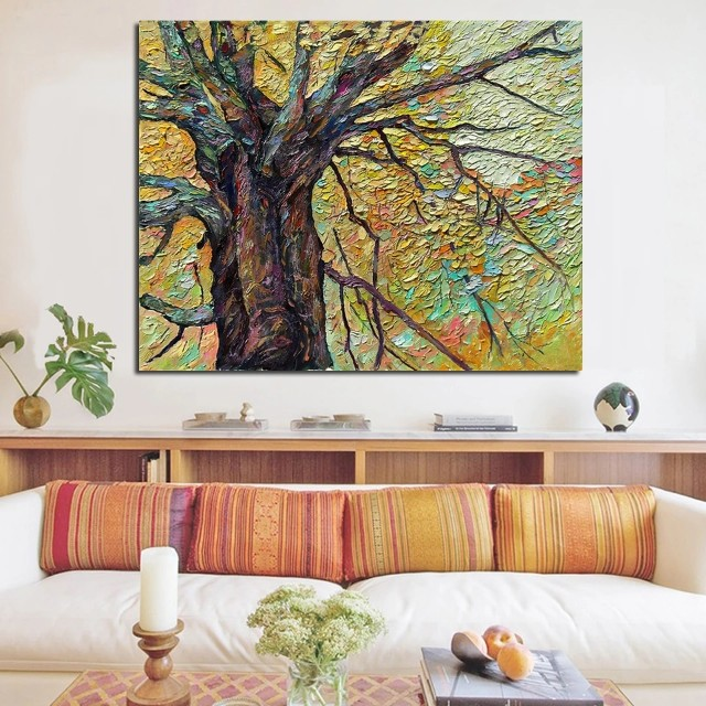 Abstract Tree Handpainted Oil Painting