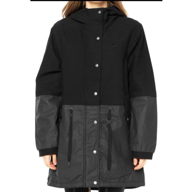 ADIDAS ORIGINALS TOKYO 三葉草 東京 夜景 霓虹 長版 風衣外套 S19932
