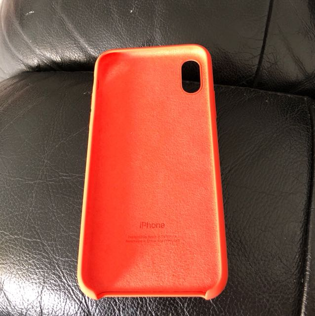 check out 75d42 c9562 Apple IPhone X Silicone Case (Spicy Orange)