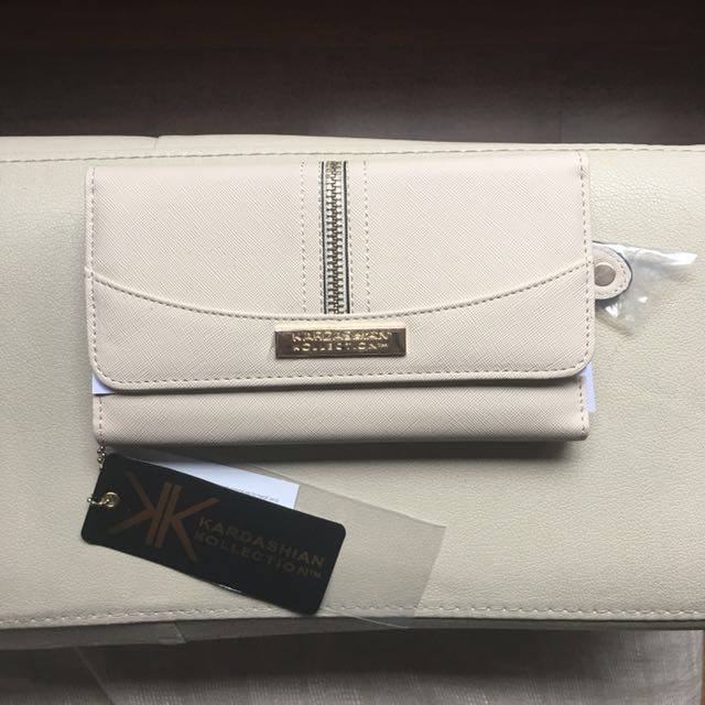 Beige Kardashian Kollection wallet