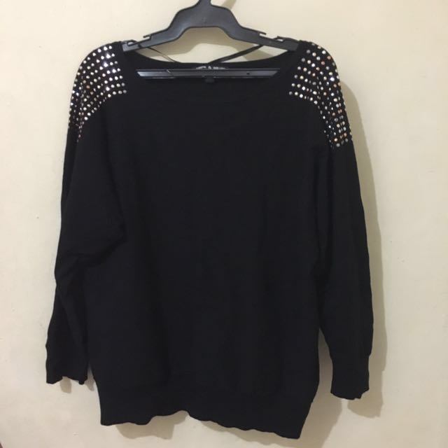 Black longsleeves with studs