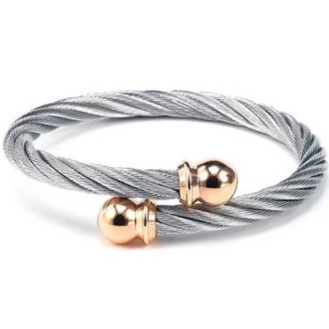 BNEW Charriol Bangle w Rose Gold Tip (medium)