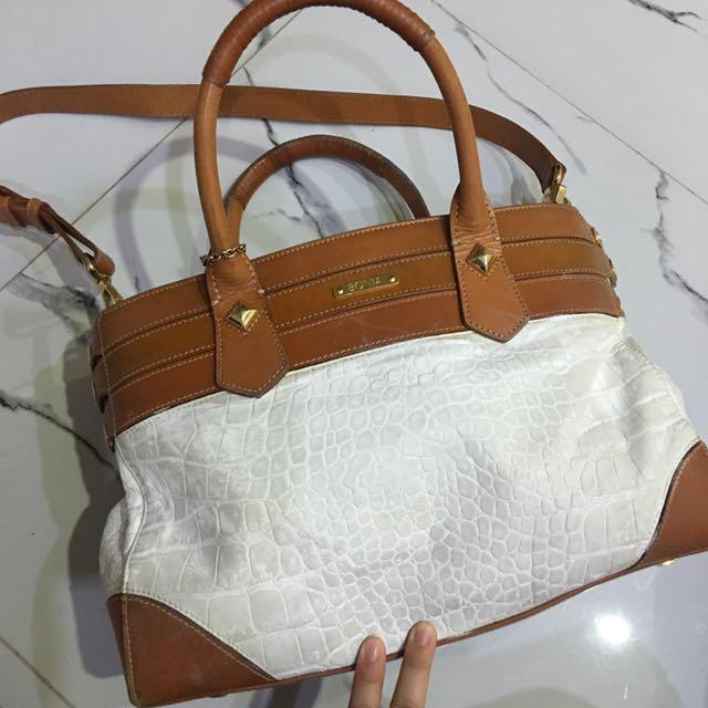 BONIA WHITE BAG with LEATHER
