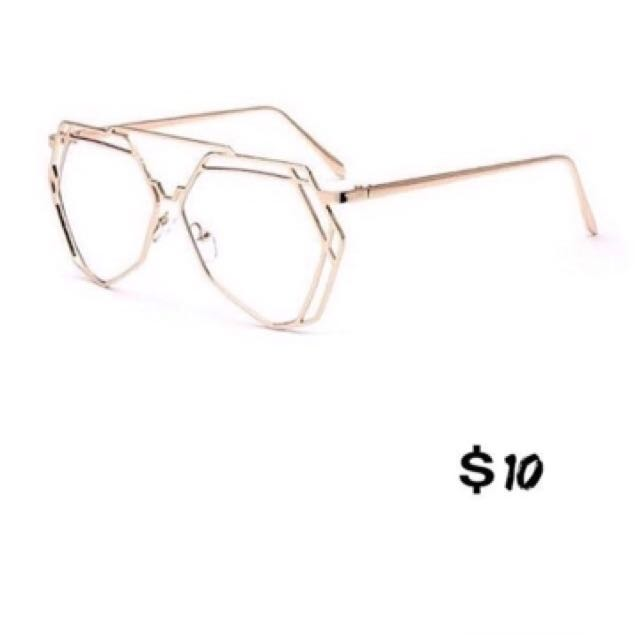 Brand New Gold Frame Glasses