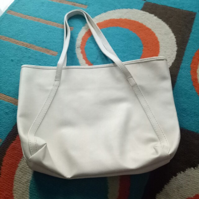 Broken white bag