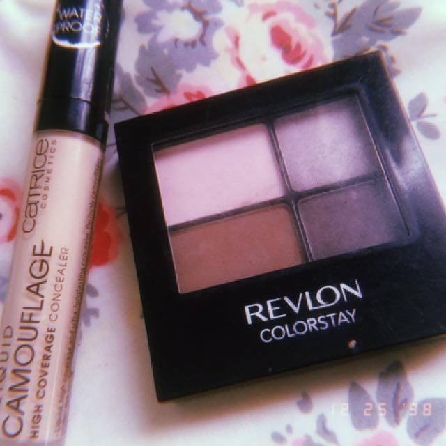 Bundle catrice high camouflage concealer + Revlon eyeshadow