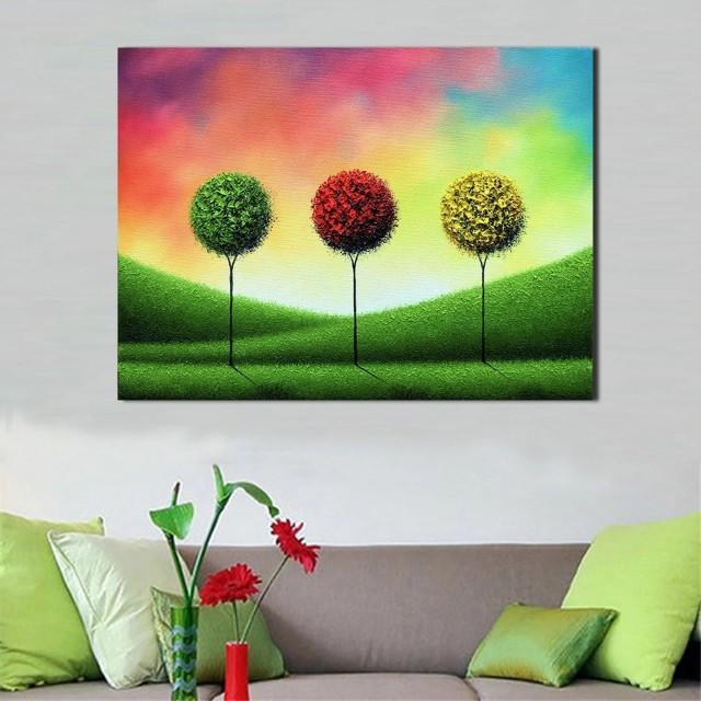 Bushy Tree Handpainted Oil Painting
