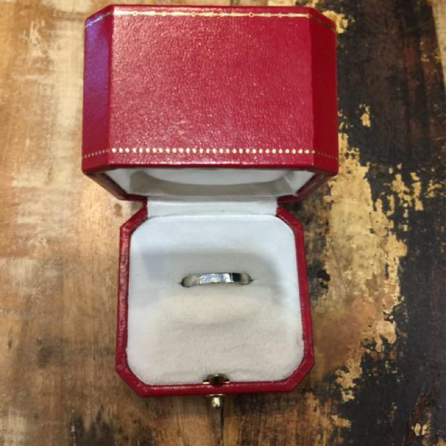 Cartier 白K金戒指