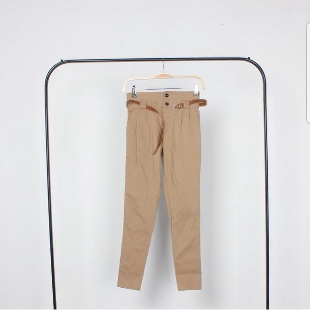 Choco Button Pants