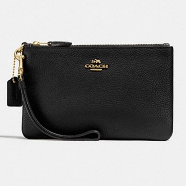Coach black wristlet Brand new with box and tags