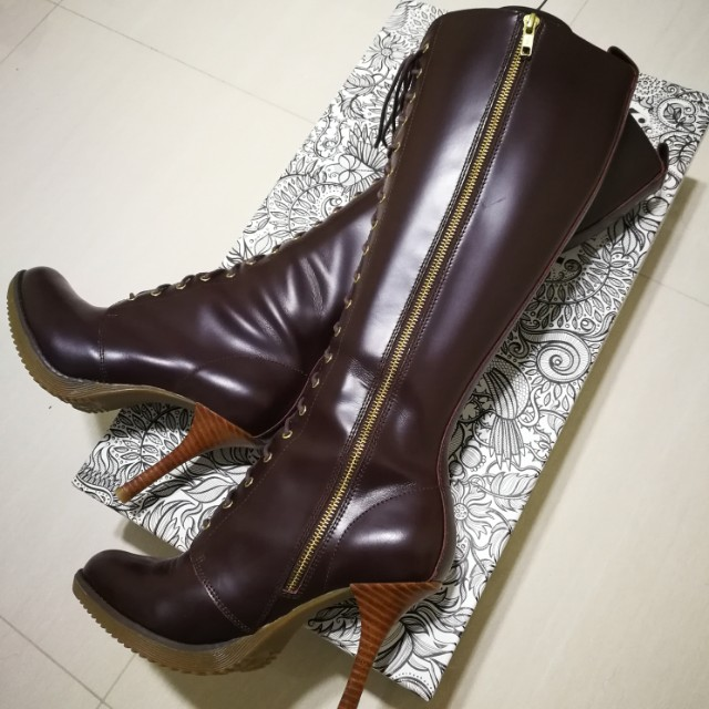 51cd03a2246 Doc Martens Gilda Knee Length High Heel Boots Oxblood Packard. Dr Martens  Bellissa Womens Leather ...