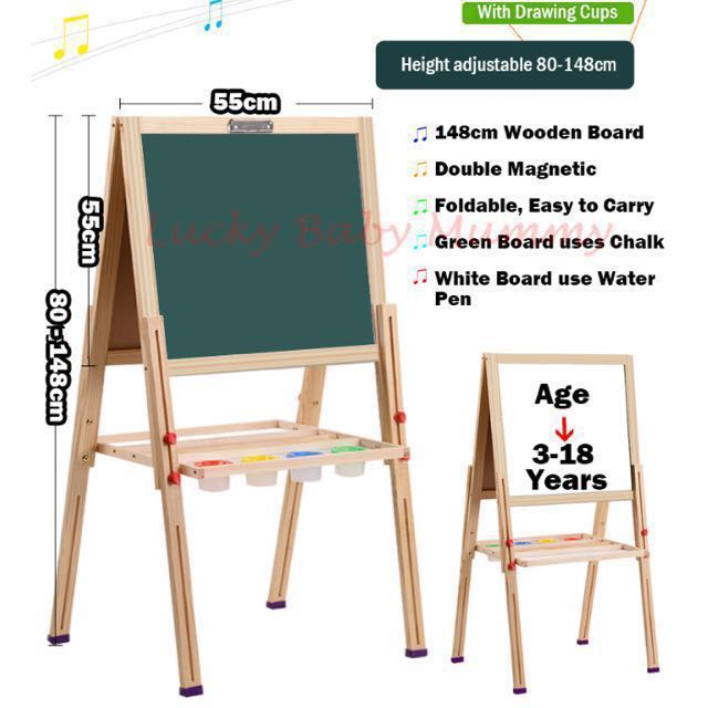 double side drawing board easel babies kids others on carousell