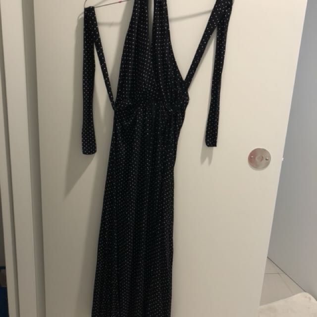 Dress halter neck
