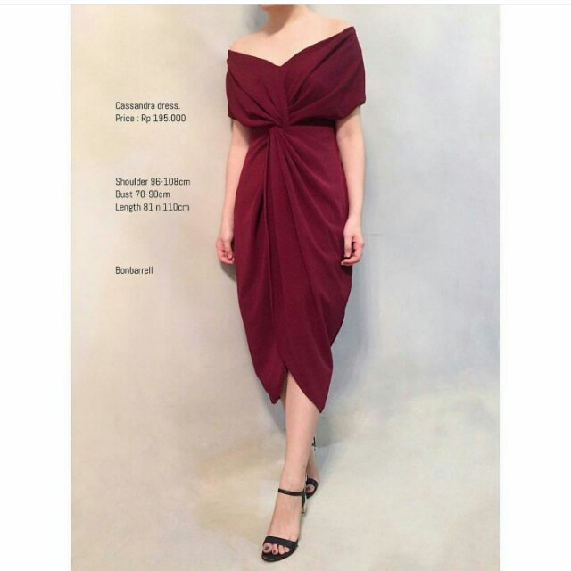 Dress in Red Maroon
