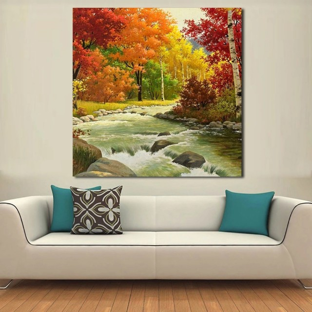 Forest And Streams Handpainted Oil Painting