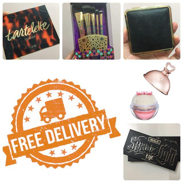 Free postage! Eyeshadow, blusher, brushes etc