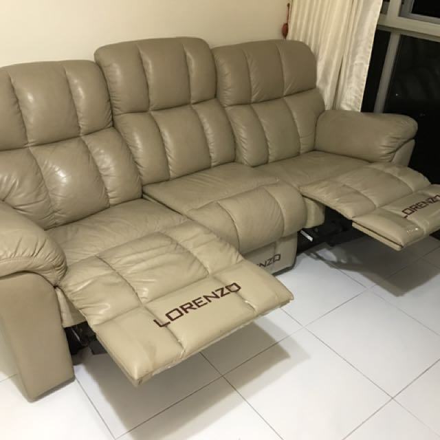 Full Leather Lorenzo Sofa 3 Seater With 2 Incliners Furniture Sofas On Carou
