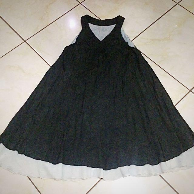 Gray dark dress