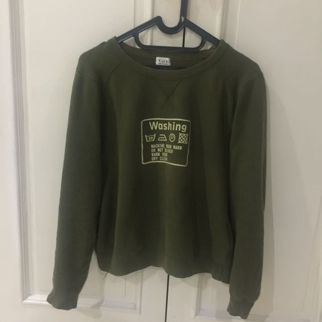 Green Army Sweater